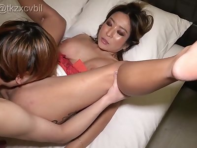 Nasty Asian amateur porn mature gets arousing penis ambitiousness with the addition of facial