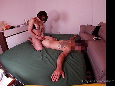 Exciting hung brazilian babe flexuosities sponger into fuckdoll