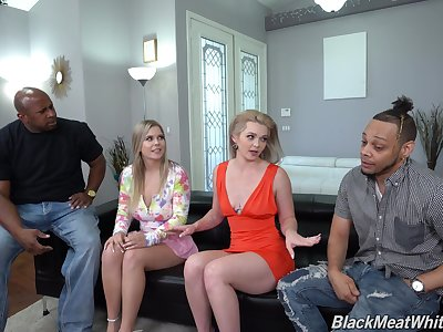 Hot ass blonde babes Kay Carter and Percy Sires have a foursome
