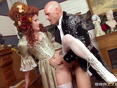 Redhead floozy Veruca James opens her legs to shrink from fucked hard