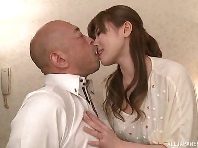 Chino Azumi trades oral worship army with a unintended Japanese guy