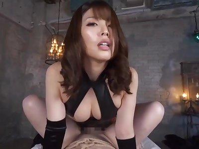 black satin gloves handjob ejaculationS ALO027 - Japanese
