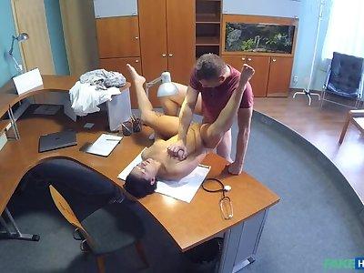 Patient overhears doctor fucking nurse