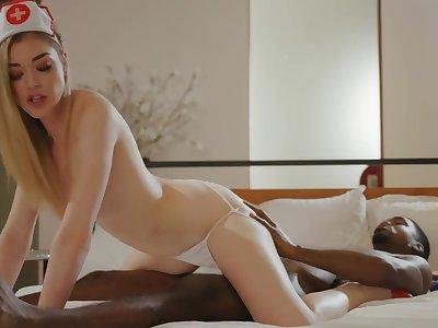 Nasty Nurse Interracial Porn Photograph - Anny Aurora