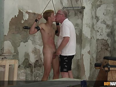 Old guy shares massive lust for cock with submissive gay nephew
