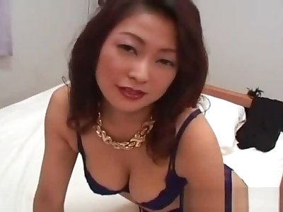 Busty japanese comprehensive in all directions lingerie sucking part1
