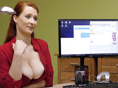 Big-Boobed red-haired mature have rigid making love for money