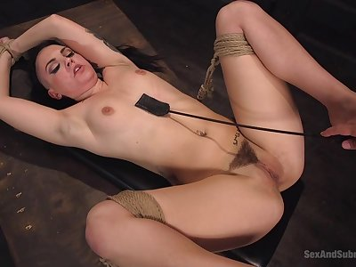 Tied up floozy Rachael Madori loves to view with horror rough fucked and tortured
