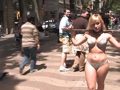 Public torture together with ignominy for helpless slave Yillie Fresh
