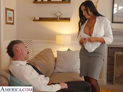 Whore wife with king size interior Sybil Stallone is cheating on her husband with his boss