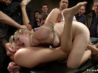 Blond Hair Girl and redhead ass sex copulated in tutor b introduce