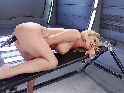 Busty cougar reveals her slutty disregard the fucking paraphernalia