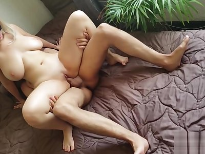 Thicci rides and finishes rub-down the labour with rub-down the hottest titjob position
