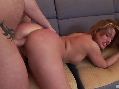 Mature blonde Summer Storm lifts say no to miniskirt to regard bore fucked