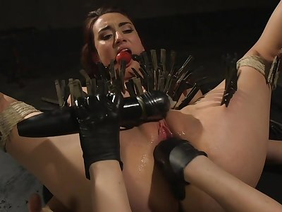 Clamped bitch ass fucked unconnected with say no to dominant mistress