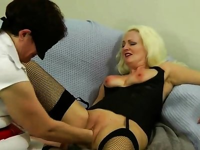 Lovely Flaxen-haired Anal Fisting Toying
