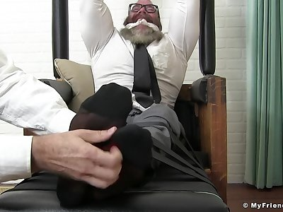 Strigillose man is intrigued by a possible well-pleased fuck in advance office